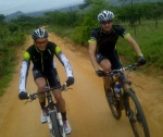 Team Mopani's cyclists, Bertus van der Linde and Louis Botha.